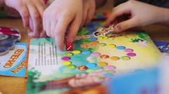 Children draw and write the letters in the notebook perform tasks Stock Footage