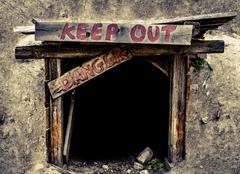 Dangerous Mine Entrance Stock Photos