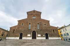 renaissance catholic cathedral in Faenza - stock photo