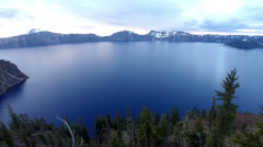 Aerial Oregon Crater Lake - stock footage