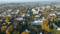 Aerial video of McMinnville, Oregon: 4K Ultra HD Stock Footage