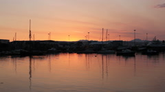 Mallaig waterfront at sunset Scotland Stock Footage
