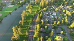 Aerial Oregon Bend Stock Footage