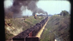 1948  ,Oil pumping and flaring gas flames Stock Footage