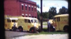 1948  ,Milk delivery milkman, Meadow Gold Milk Stock Footage
