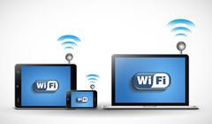 Wireless network - stock illustration