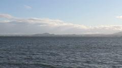 Edinburgh coast and Firth of Forth Scotland Stock Footage