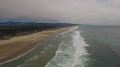 Aerial Oregon Canon Beach Stock Footage