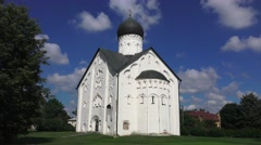 The Church of the Transfiguration of Our Saviour (4k), Veliky Novgorod, Russia. Stock Footage