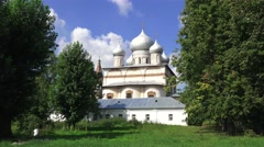 The Cathedral of Our Lady of the Sign (in 4k), Veliky Novgorod, Russia. Stock Footage