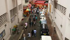 Citizen come through Wan Chai road to Bowrington Market area Stock Footage