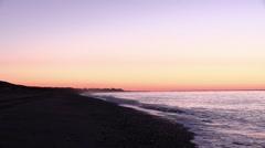 Tide at sunrise - stock footage