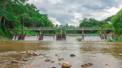 River locks In Thailand Stock Footage