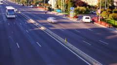 Otopeni, near Bucharest, Romania - October2015 Traffic on national highway.Tilt Stock Footage