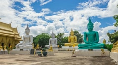 Buddha statue in Thailand Stock Footage