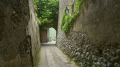 Small laneway in Ravello, Italy. Stock Footage