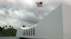 The arizona memorial at pearl harbor Stock Footage