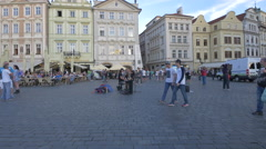 Playing the piano in the Old Town Square, Prague Stock Footage