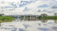 Bridge in Chiang Rai, Thailand Stock Footage