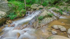 Waterfall in Doi Inthanon national park, Chiang Mai, Thailand Stock Footage