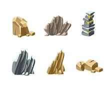 Stock Illustration of Stones and Rocks Textures