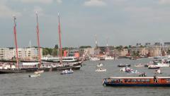 Boats at Sail Amsterdam 2015 - stock footage