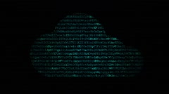 Cloud computing network concept. Stock Footage