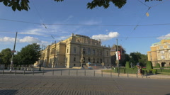 Jan Palach Square with the Czech Philharmonic, Prague Stock Footage
