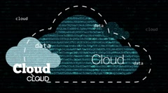 Cloud computing network concept with text Stock Footage