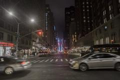 7th Ave, New York - stock photo