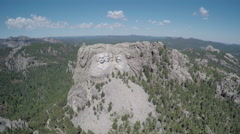 Mount Rushmore South Dakota - Push In Shot Stock Footage