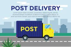 Stock Illustration of Delivery vector truck. service van silhouette