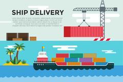 Vector transportation concept illustration global - stock illustration