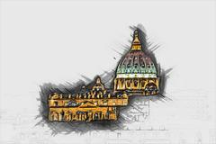 St. Peter's cathedral Stock Illustration