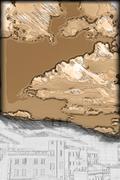 Panorama of Siena, Tuscany, Italy - stock illustration
