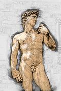 David by Michelangelo Stock Illustration