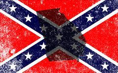 Rebel Civil War Flag With Georgia Map Stock Illustration