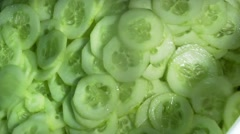 Cucumber-slices-machine Stock Footage