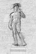 David by Michelangelo - stock illustration