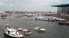 Boats at Sail Amsterdam 2015 Stock Footage