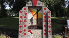 Stock Video Footage of Great War Date Memorial - Buxton