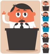 Politician - stock illustration