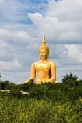Biggest Seated Buddha in Thailand - stock photo
