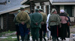 Military Second World War in the village, Kazakh troops of Ukraine, the invasion Stock Footage