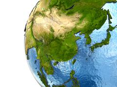 Stock Illustration of Southeast Asia on Earth