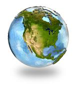 Stock Illustration of North America on Earth