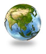 Southeast Asia on Earth Stock Illustration
