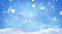 Beautiful snowdrift and magic snowfall seamless loop 4k (4096x2304) Stock Footage