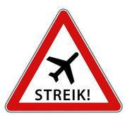 Strike at the airport - stock illustration