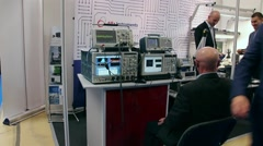 Stock Video Footage of highly skilled work on the latest sample measurement technology